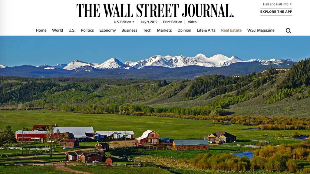 Colorado Ranch for Sale in The Wall Street Journal