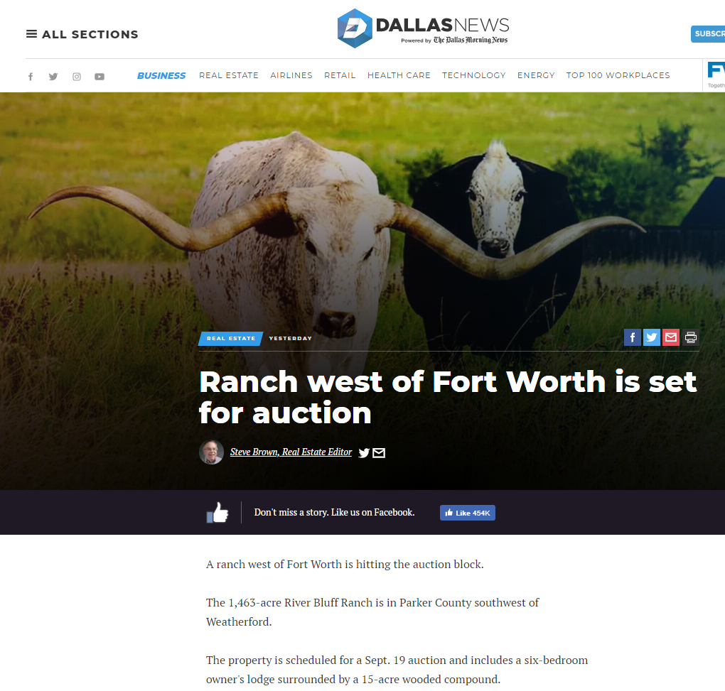 Media Covers Texas Ranch Auction