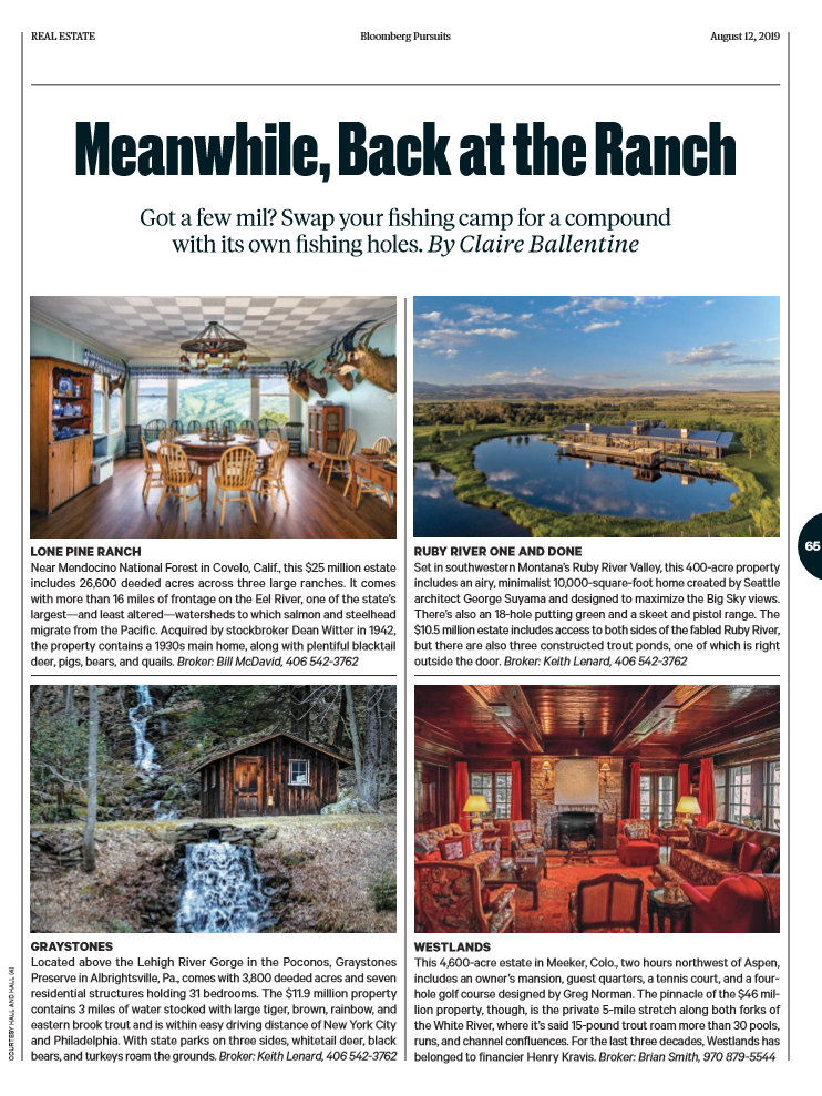 Businessweek Profiles Four Fly Fishing Ranches